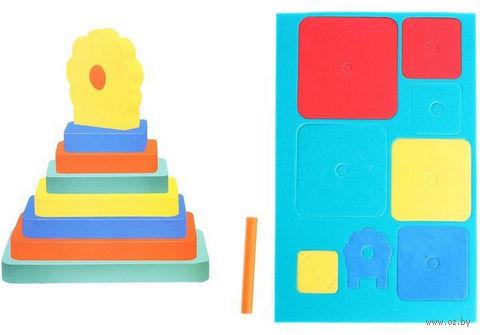 """Пирамидка """"Цветочек"""" (8 элементов) — фото, картинка"""