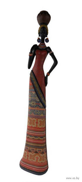 "Статуэтка декоративная ""Африканка с кувшином на голове"" — фото, картинка"