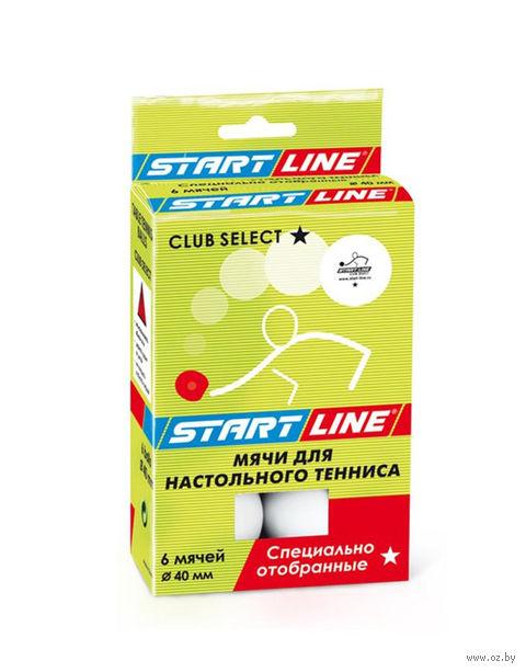 "Мячи для настольного тенниса ""Club Select"" (6 шт.; 1 звезда) — фото, картинка"