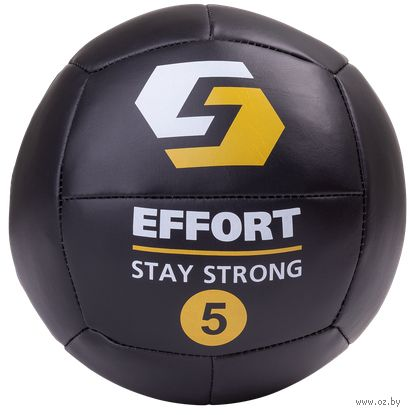 Медбол 5 кг (чёрный; арт. EMD5) — фото, картинка