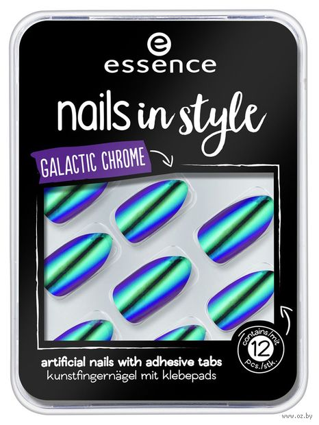 "Накладные ногти ""Nails in Style 06. Galactic Chrome"" (12 шт.) — фото, картинка"