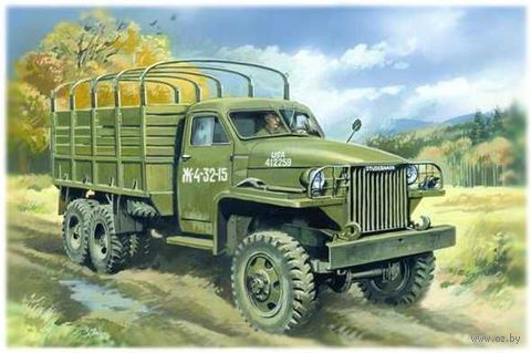 Армейский грузовой автомобиль ІІ Мировой войны, Studebaker US6 (масштаб: 1/35) — фото, картинка