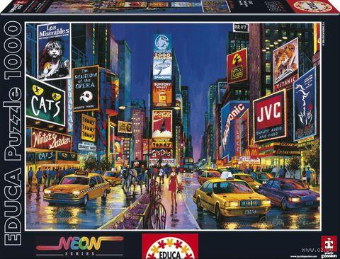 """Пазл флуоресцентный """"Times Square. Нью-Йорк"""" (1000 элементов)"""