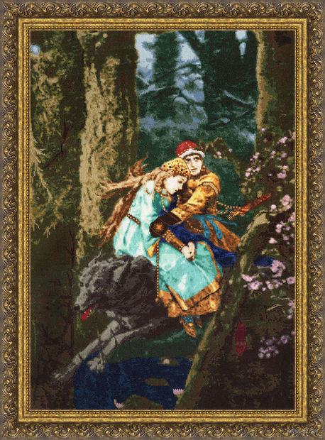 """Вышивка крестом """"Иван Царевич и Серый волк"""" (616х426 мм) — фото, картинка"""
