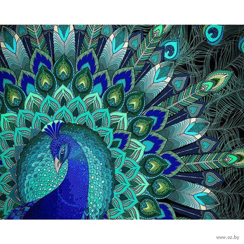 """Алмазная вышивка-мозаика """"Узоры павлина"""" (500x400 мм) — фото, картинка"""