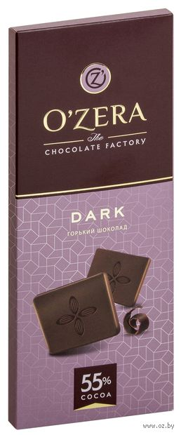 """Шоколад горький """"O'Zera. Dark"""" (90 г) — фото, картинка"""
