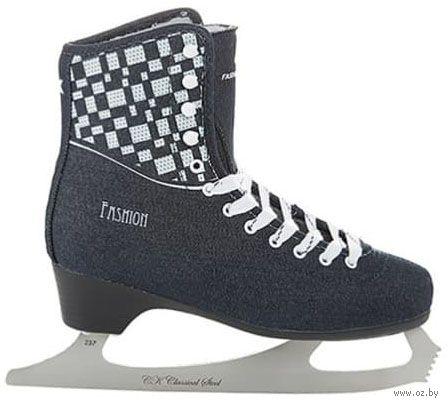 """Коньки фигурные """"Fashion Lux Jeans"""" (р. 35; синие) — фото, картинка"""