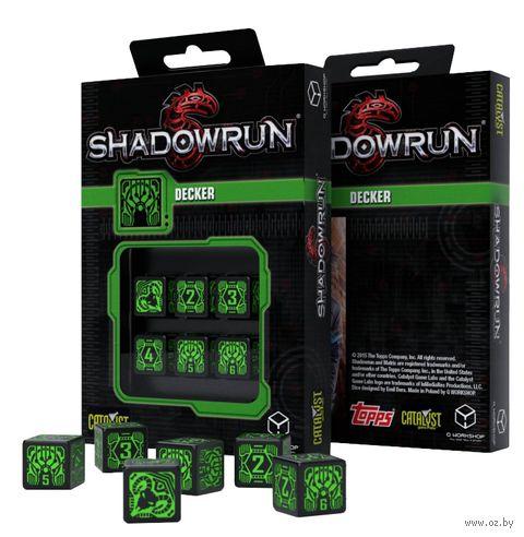 """Набор кубиков D6 """"Shadowrun. Decker"""" (16 мм; 6 шт.) — фото, картинка"""