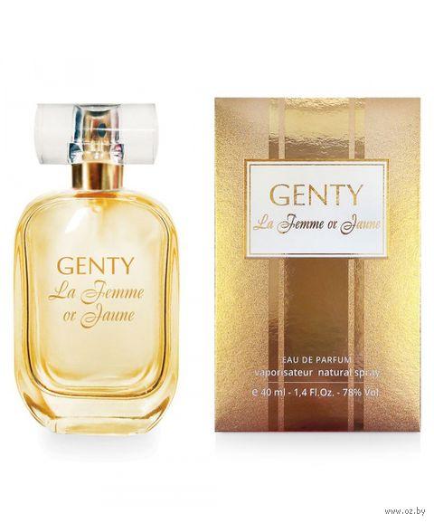 """Парфюмерная вода для женщин """"Genty La Femme or Jaune"""" (40 мл) — фото, картинка"""