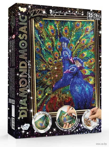 """Алмазная вышивка-мозаика """"Diamond Mosaic. Павлин"""" (400х300 мм) — фото, картинка"""