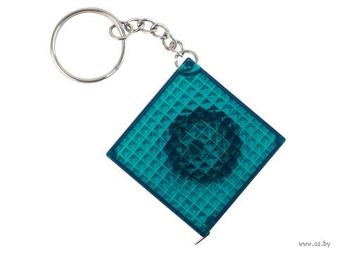 Брелок-рулетка из светоотражающего материала (синий, 1 метр)