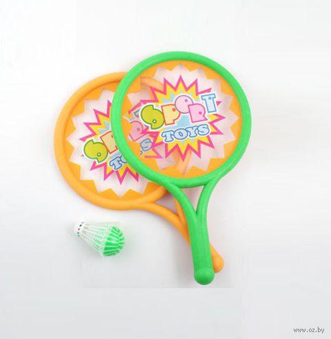 Набор для игры в теннис и бадминтон (2 ракетки, воланчик, мячик) — фото, картинка