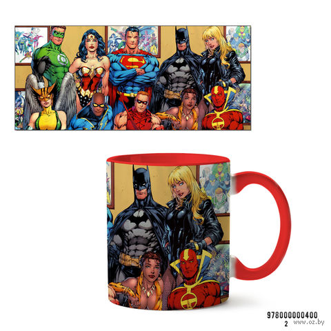 """Кружка """"Вселенная DC"""" (красная; арт. 400) — фото, картинка"""