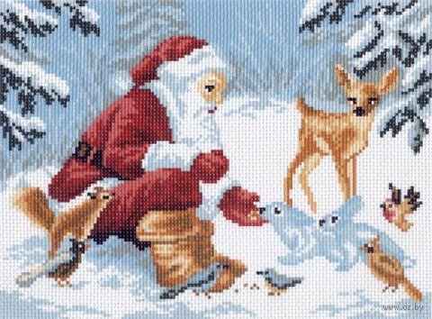 """Канва с нанесенным рисунком """"Зимние подарки"""""""