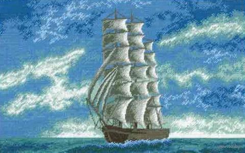 """Вышивка крестом """"Корабль"""""""
