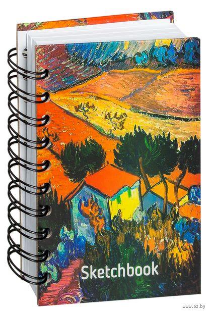 "Скетчбук ""Ван Гог. Пейзаж с домом и пахарем"" (А6) — фото, картинка"