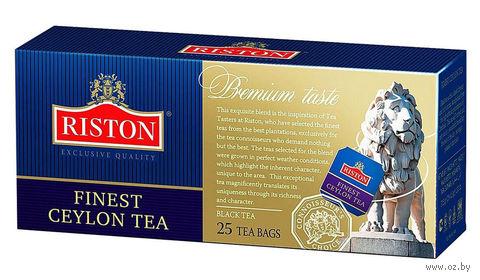 """Чай черный """"Riston. Finest Ceylon"""" (25 пакетиков) — фото, картинка"""