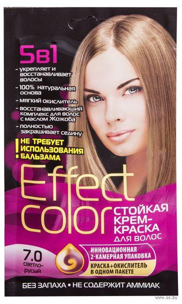 """Крем-краска для волос """"Effect Сolor"""" (тон: 7.0, светло-русый) — фото, картинка"""