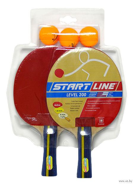 "Набор для настольного тенниса ""Level 200"" (2 ракетки+3 мяча; арт. 61300) — фото, картинка"