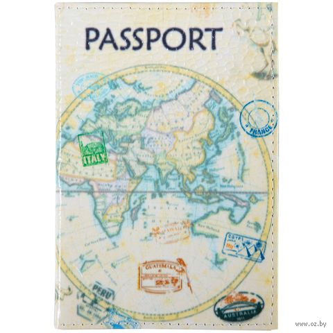 """Обложка на паспорт """"Карта"""" (арт. KPs_3308) — фото, картинка"""