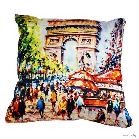 """Подушка """"Франция. Париж"""" (35х35 см; арт. A0001) — фото, картинка"""