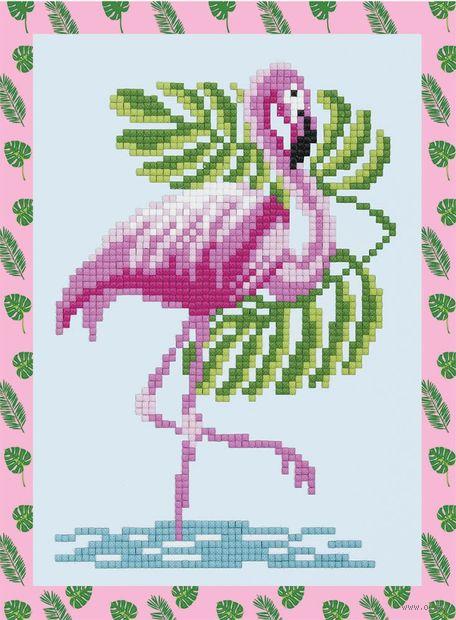 "Алмазная вышивка-мозаика ""Фламинго"" (195х140 мм) — фото, картинка"