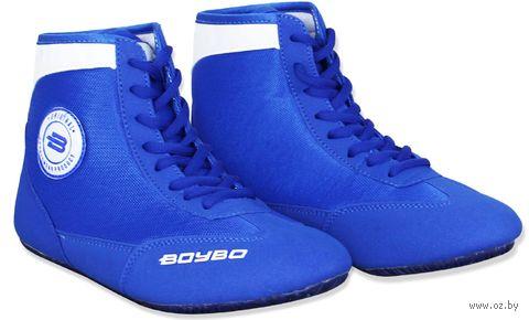Обувь для борьбы (р. 39; сине-белая) — фото, картинка