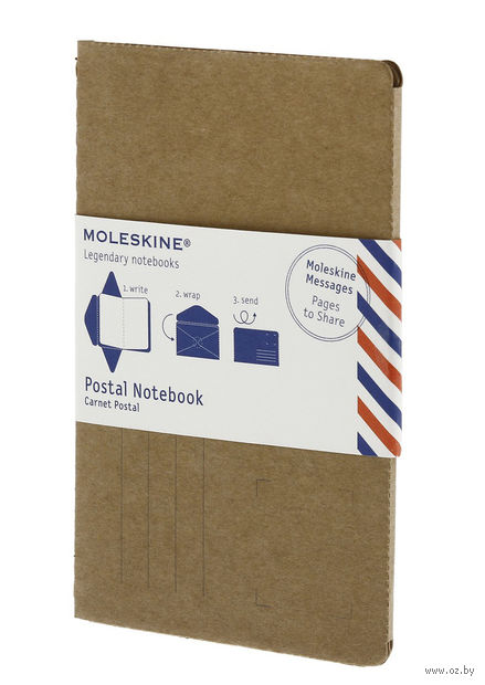 """Почтовый набор Молескин """"Postal Notebook"""" (большой; мягкая коричневая обложка)"""