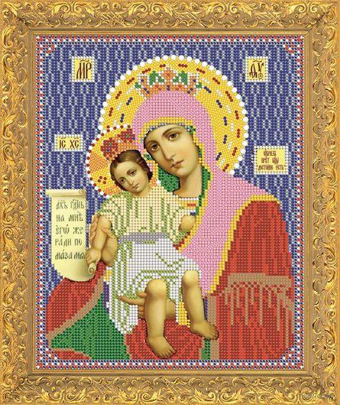 """Вышивка бисером """"Пресвятая Богородица. Достойно есть"""" (157х118 мм)"""