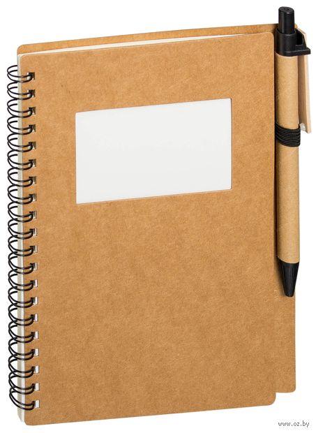 """Блокнот в линейку """"Дейзи"""" с ручкой (А5) — фото, картинка"""