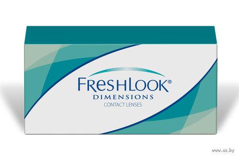 """Контактные линзы """"FreshLook Dimensions"""" (1 линза; -6,0 дптр; зеленая лагуна) — фото, картинка"""