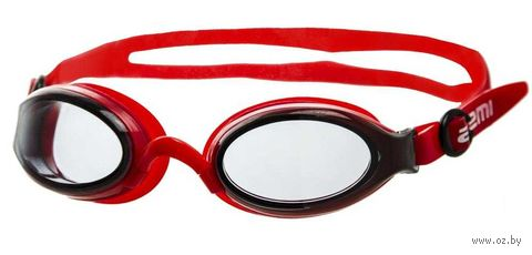 Очки для плавания (красно-серые; арт. B800) — фото, картинка