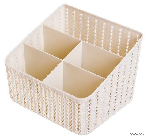 """Органайзер для специй """"Вязание"""" (180х140х140 мм; белый) — фото, картинка"""