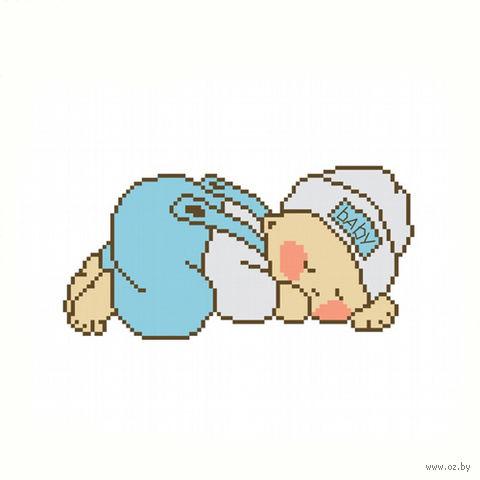 """Вышивка крестом """"Спящий младенец"""""""