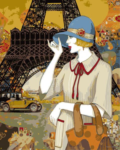 """Картина по номерам """"Хелена Лам. Парижские приключения"""" (400х500 мм) — фото, картинка"""