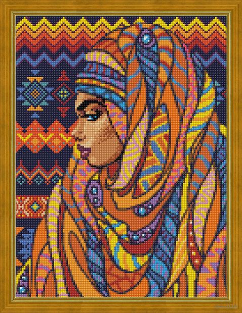 "Алмазная вышивка-мозаика ""Красавица из Того"" (300х400 мм) — фото, картинка"