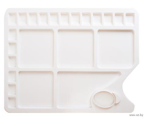 Палитра прямоугольная пластиковая на 23 ячейки (34х23,4 см)