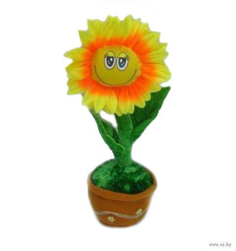 """Мягкая музыкальная игрушка """"Цветок в горшке"""""""