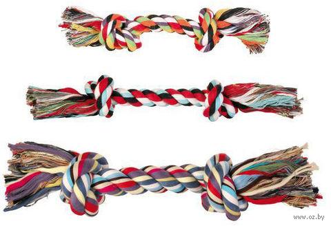 """Игрушка для собак """"Веревка с двумя узлами"""" (37 см) — фото, картинка"""