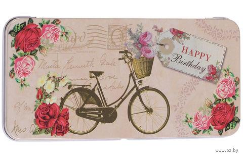 """Подарочная коробочка для денег """"Велосипед"""" (арт. 43671) — фото, картинка"""