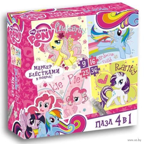 """Набор пазлов """"My Little Pony. Серебряные пони"""" (9+16+25+36 элементов) — фото, картинка"""
