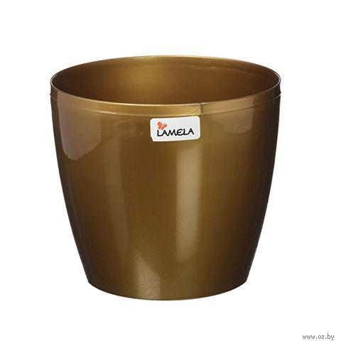 """Кашпо """"Magnolia"""" (13,5 см; золотой металлик) — фото, картинка"""