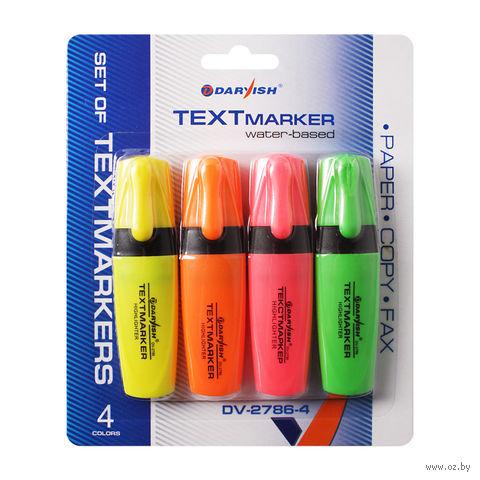 """Набор маркеров-выделителей """"Darvish"""" (4 цвета; арт. DV-2786-4)"""