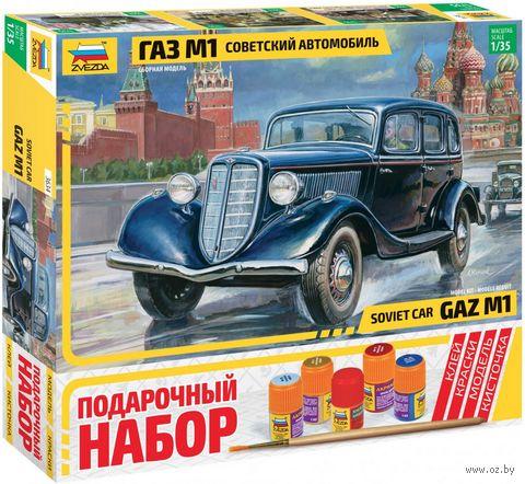"""Сборная модель """"Советский автомобиль ГАЗ М1"""" (масштаб: 1/35; подарочный набор) — фото, картинка"""