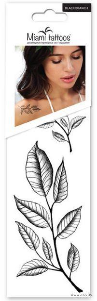 """Набор татуировок для тела """"Black Branch"""" — фото, картинка"""