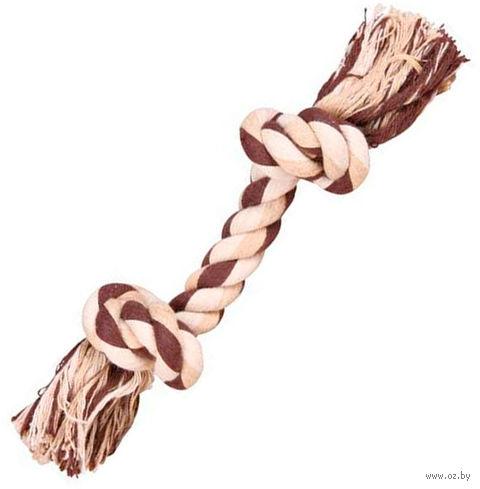 """Игрушка для собак """"Веревка с двумя узлами"""" (22 см) — фото, картинка"""
