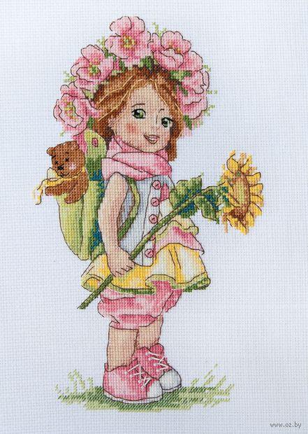 "Вышивка крестом ""Летняя девочка"" (230х140 мм) — фото, картинка"
