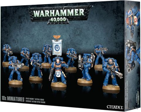Warhammer 40.000. Space Marines. Tactical Squad (48-07) — фото, картинка