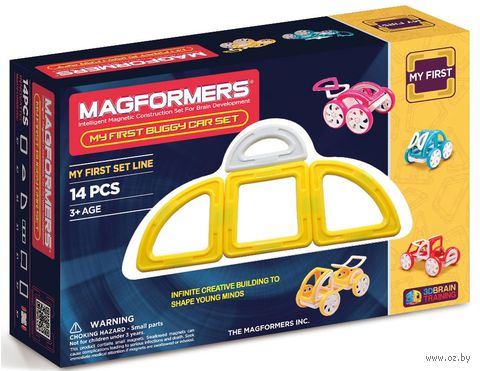 "Конструктор магнитный ""My First Buggy. Желтый"" (14 деталей)"
