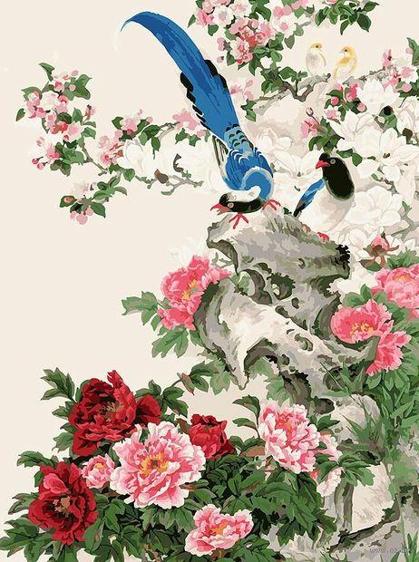 "Картина по номерам ""Райские птицы"" (300х400 мм) — фото, картинка"